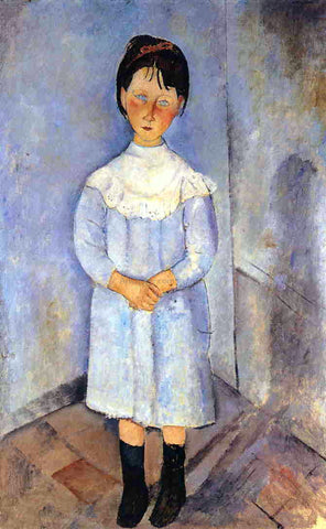 Amedeo Modigliani Little Girl in Blue - Hand Painted Oil Painting