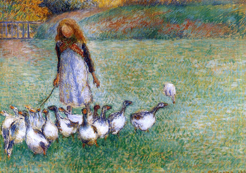 Camille Pissarro A Little Goose Girl - Hand Painted Oil Painting