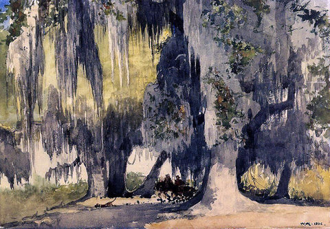 Winslow Homer Live Oaks - Hand Painted Oil Painting