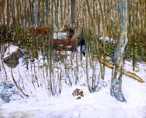 Julian Alden Weir Loading Ice - Hand Painted Oil Painting