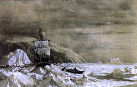 William Bradford Locked In - Baffin Bay - Hand Painted Oil Painting