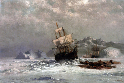 William Bradford Locked in Ice - Hand Painted Oil Painting