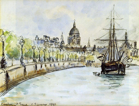 Camille Pissarro London, St. Paul's Cathedral - Hand Painted Oil Painting