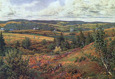 William Trost Richards Long Pond, Foot of Red Hill - Hand Painted Oil Painting