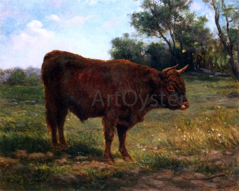Rosa Bonheur A Longhorn Bull in a Landscape - Hand Painted Oil Painting