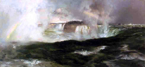 Thomas Moran Looking over Niagara Falls - Hand Painted Oil Painting