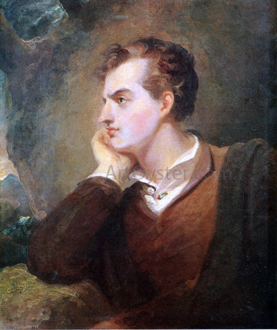 Thomas Sully Lord Byron - Hand Painted Oil Painting