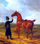 Jacques-Laurent Agasse Lord Rivers' Groom Leading a Chestnut Hunter Towards a Coursing Party in Hampshire - Hand Painted Oil Painting