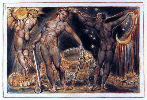 William Blake Los - Hand Painted Oil Painting