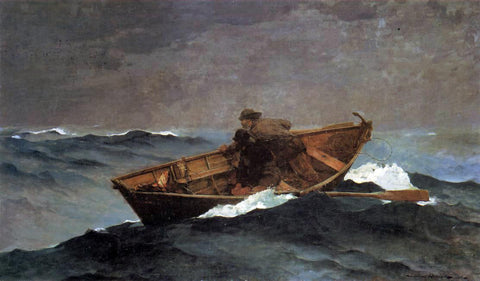 Winslow Homer Lost on the Grand Banks - Hand Painted Oil Painting
