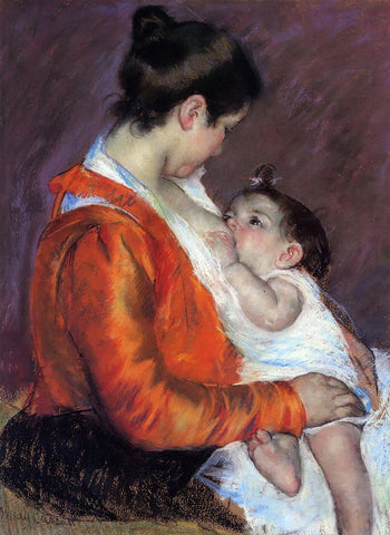 Mary Cassatt Louise Nursing Her Child - Hand Painted Oil Painting