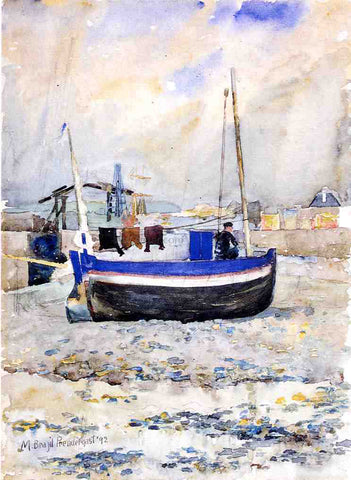 Maurice Prendergast A Low Tide, Afternoon, Treport - Hand Painted Oil Painting