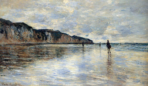 Claude Oscar Monet Low Tide at Pourville - Hand Painted Oil Painting
