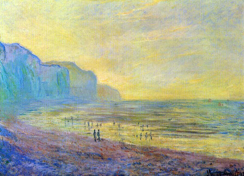 Claude Oscar Monet Low Tide at Pourville, Misty Weather - Hand Painted Oil Painting