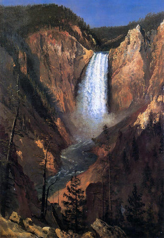 Albert Bierstadt Lower Yellowstone Falls - Hand Painted Oil Painting