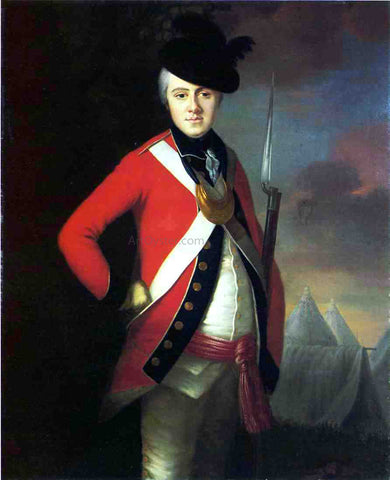 Joseph Blackburn Lt. Colonel Thomas Dowdeswell - Hand Painted Oil Painting