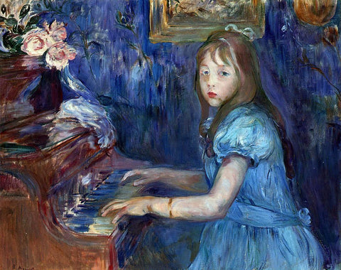 Berthe Morisot Lucie Leon at the Piano - Hand Painted Oil Painting