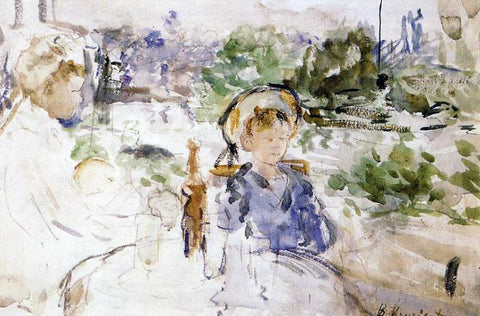 Berthe Morisot Luncheon in the Countryside - Hand Painted Oil Painting