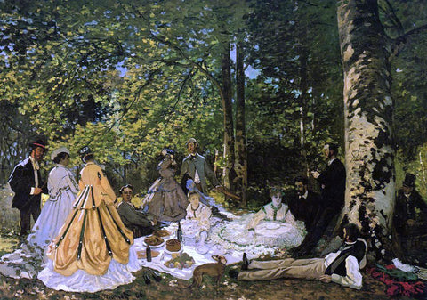 Claude Oscar Monet Luncheon on the Grass - Hand Painted Oil Painting