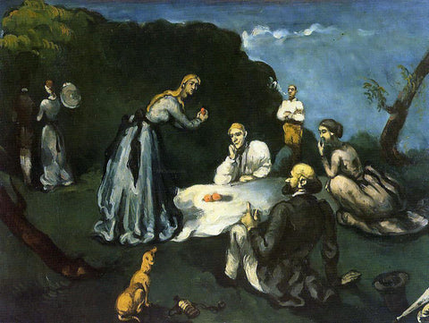 Paul Cezanne Luncheon on the Grass - Hand Painted Oil Painting