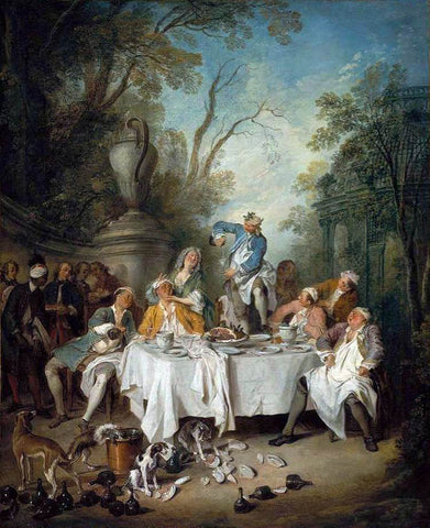 Nicolas Lancret Luncheon Party in a Park - Hand Painted Oil Painting