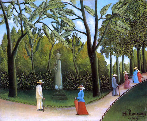 Henri Rousseau Luxembourg Garden - Hand Painted Oil Painting