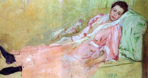 Mary Cassatt Lydia Reading on a Divan - Hand Painted Oil Painting