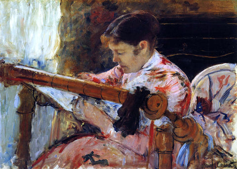 Mary Cassatt Lydia Seated at an Embroidery Frame - Hand Painted Oil Painting