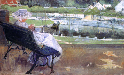Mary Cassatt Lydia Seated on a Terrace, Crocheting - Hand Painted Oil Painting