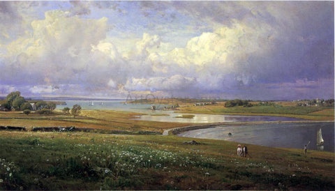 William Trost Richards Mackerel Cove, Jamestown, Rhode Island - Hand Painted Oil Painting