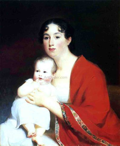Thomas Sully Madame Brujere and Child - Hand Painted Oil Painting