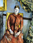 Paul Cezanne Madame Cezanne in a Yellow Chair - Hand Painted Oil Painting