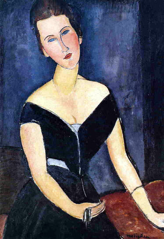 Amedeo Modigliani Madame Georges van Muyden - Hand Painted Oil Painting