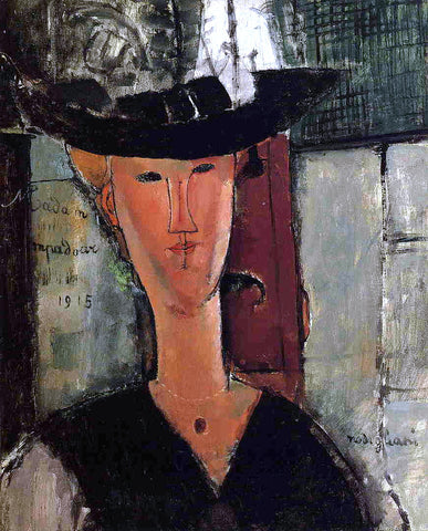 Amedeo Modigliani Madame Pompadour - Hand Painted Oil Painting
