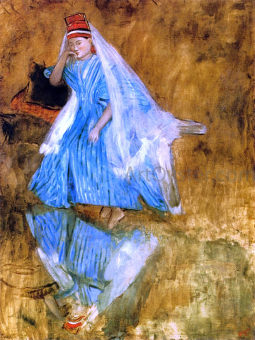 "Edgar Degas Mademoiselle Fiocre in the Ballet ""The Source"" (study) - Hand Painted Oil Painting"