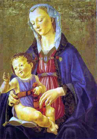 Domenico Ghirlandaio Madonna and Child - Hand Painted Oil Painting