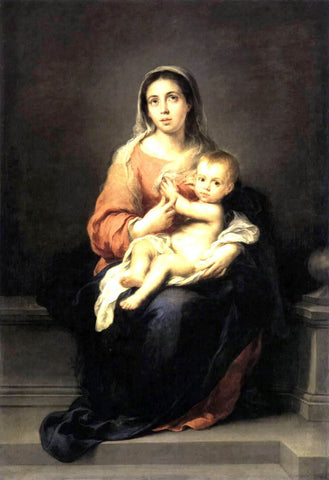 Bartolome Esteban Murillo Madonna and Child - Hand Painted Oil Painting