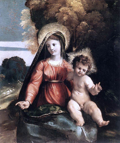 Dosso Dossi Madonna and Child - Hand Painted Oil Painting