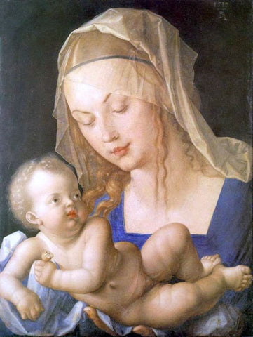 Albrecht Durer Madonna and Child with a Pear - Hand Painted Oil Painting