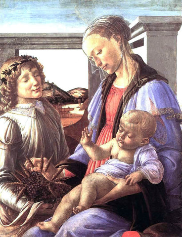 Sandro Botticelli Madonna and Child with an Angel - Hand Painted Oil Painting