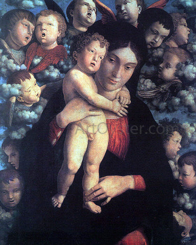 Andrea Mantegna Madonna and Child with Cherubs - Hand Painted Oil Painting