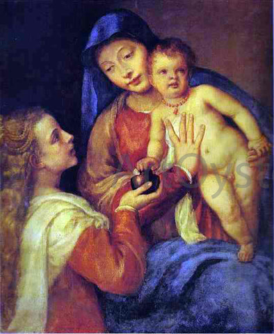 Titian Madonna and Child with Mary Magdalene - Hand Painted Oil Painting