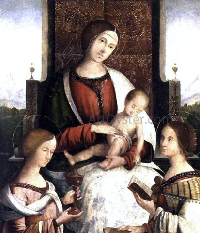 Bernardino Di Bosio Zaganelli Madonna and Child with Sts Mary Magdalene and Catherine of Alexandria - Hand Painted Oil Painting