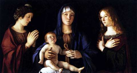 Giovanni Bellini Madonna and Child with Two Saints (Sacra Conversazione) - Hand Painted Oil Painting