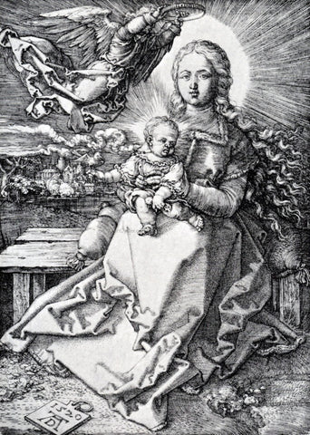 Albrecht Durer Madonna Crowned By An Angel - Hand Painted Oil Painting