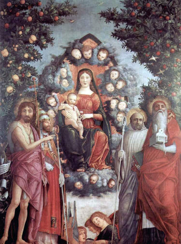 Andrea Mantegna Madonna mit Heiligen - Hand Painted Oil Painting