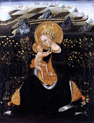 Giovanni Di Paolo Madonna of Humility - Hand Painted Oil Painting