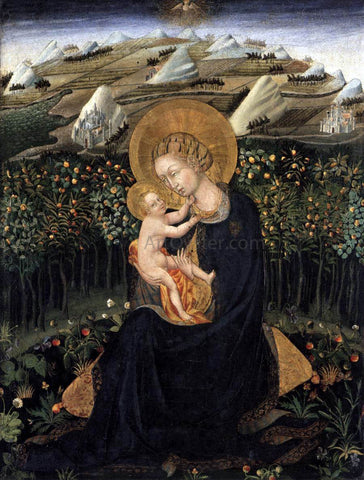 Giovanni Di Paolo Madonna of Humility  (Virgin and Child) - Hand Painted Oil Painting