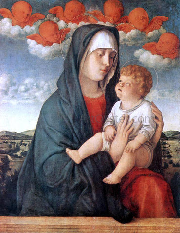 Giovanni Bellini Madonna of Red Angels - Hand Painted Oil Painting