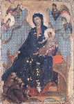 Duccio Di Buoninsegna Madonna of the Franciscans - Hand Painted Oil Painting